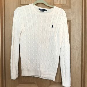Ralph Lauren cream cable cotton sweater.